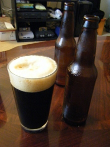 Yes and please!  A homebrewed porter.